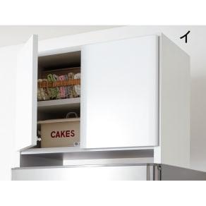 光沢仕上げ冷蔵庫上置き 奥行35.5高さ45.5cm 写真