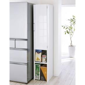 ゴミ箱上を活用できる下段オープンすき間収納庫 幅35cm 写真