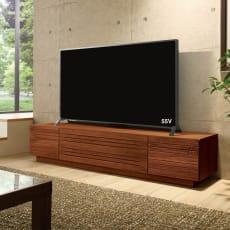 天然木無垢材のテレビ台・テレビボード ウォルナット天然木 幅180cm 写真