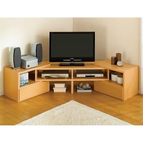 すっきり、ぴったりが心地よい伸縮式テレビ台スイングローボード オープンタイプ幅123~234cm 写真