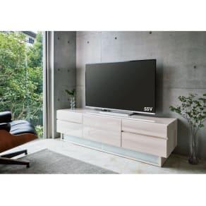 光沢木目が美しい多段引き出しテレビ台・テレビボード 幅180cm 写真