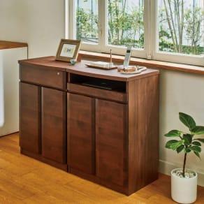 アルダー天然木アールデザイン リビング収納シリーズ PCキャビネット・幅60cm 写真