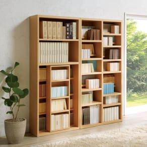 タイプが選べるコミック書棚 段違い本棚 幅90cm高さ180cm 写真