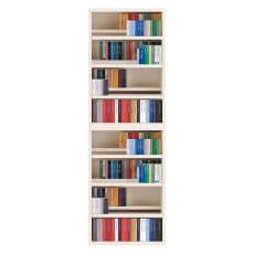 段違いコミック書棚ロータイプ2台組 幅75cm高さ228cm 天井突っ張り金具付き