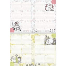 【ディノス限定販売】MOOMIN/ムーミン フルカラー5年日記(連用日記) 名入れなし 3月・4月日記ページ