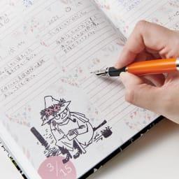 【ディノス限定販売】MOOMIN/ムーミン フルカラー5年日記(連用日記) 名入れあり 年号書き込み式なので、365日好きなタイミングで始められるのもうれしい!
