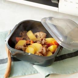 グルラボ プラス IWATANI イワタニ 肉じゃがもたった3分レンジで加熱すれば出来上がり!