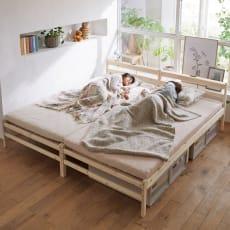 日光ひのきコンセント付ベッドフレーム