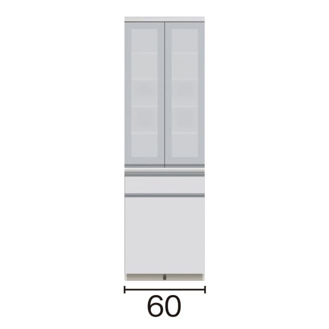 サイズが豊富な高機能シリーズ 食器棚深引き出し 幅60奥行50高さ198cm/パモウナ VZ-601K