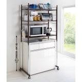 キッチン収納・幅と高さが伸縮するキッチ...