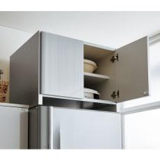 光沢仕上げ冷蔵庫上置き 奥行55高さ45.5cm