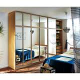 【日本製】引き戸式ワードミラー ハンガー棚タイプ 幅88cm 写真