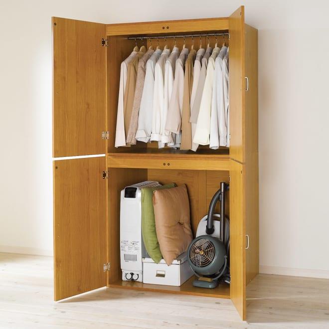 手軽に押入れが作れる 布団タンス 幅90cm 布団や衣類収納、季節家電などまとめて収納できる押入れタンスです。