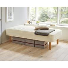 【国産】サイズが選べるポケットコイルマットレスベッド ショートタイプ(長さ181cm)