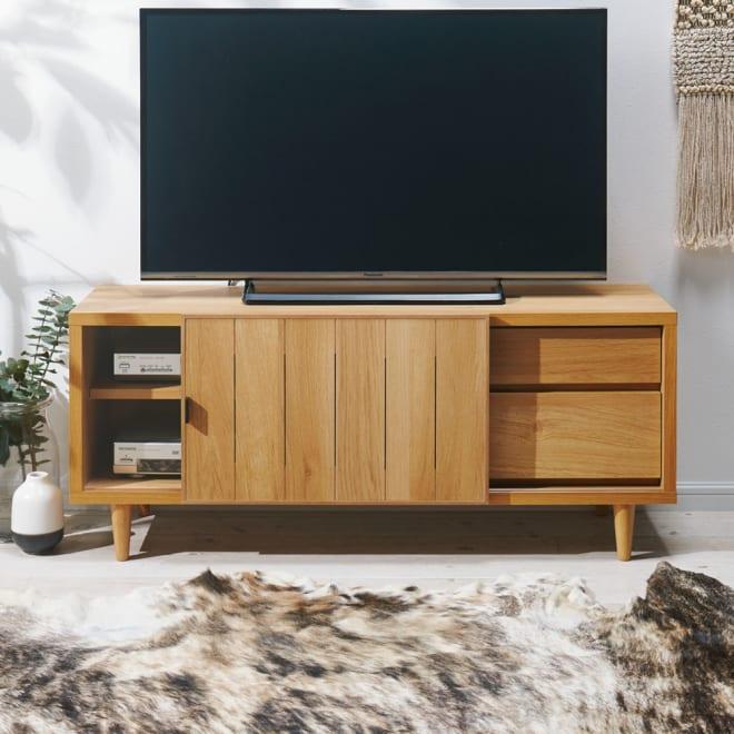 ヴィンテージ調テレビ台 ロータイプ・幅120cm コーディネート例(ウ)ナチュラル 北欧テイストを漂わせるナチュラルも魅力的です。
