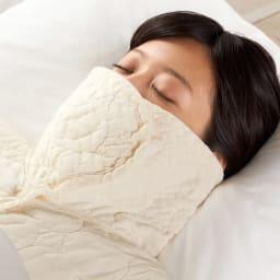パシーマ(R)首元あったかパジャマ 衿を立てれば保温マスクに。