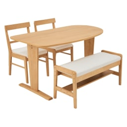コミュニケーションが豊かになるダイニングシリーズ 高さが変わる2人掛けベンチ (ア)ナチュラル ※お届けはベンチのみです。
