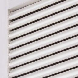 ルーバー扉すき間ランドリー収納庫 幅30cm 通気性に優れ、湿気がこもるのを防ぐルーバー扉。