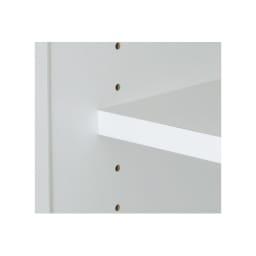 幅・奥行が選べるサニタリーチェスト 幅80・奥行45cm 扉内の棚は高さを調節できます。(3cmピッチ)