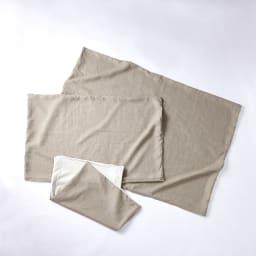 エアーラッセル使い ペットの体にも優しい敷き布団シリーズ フランスリネン専用カバー 手前からS,M、L