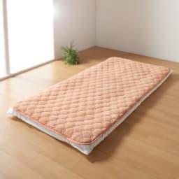 【ディノス限定販売】ヒートループ(R)DX ぬくぬく敷きパッド (ア)オレンジ
