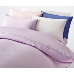 ボーテ超長綿サテンシリーズ ベッドシーツ クイーン コーディネート例(ウ)ラベンダー ※お届けはベッドシーツです。