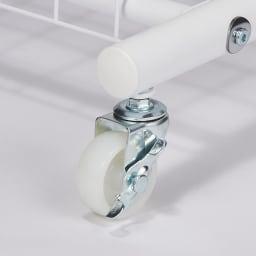 簡単高さ調節スタイリストハンガー ダブル 幅137cm しっかり支えるキャスター付き(2個はストッパー付き)