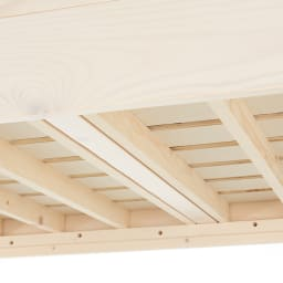 頑丈がっちりすのこベッドシリーズ ロフトベッド 床板には通気性のいいすのこを使用。
