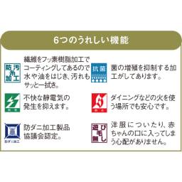 東リ 6つの機能カーペット 6つの頼れる機能が嬉しい。