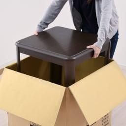 【長方形】組立不要 和モダンこたつセット 本体90×75cm+和座椅子(2脚)+布団+サロン5点セット 箱から出してすぐに使えます。