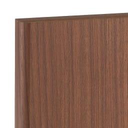 高さサイズオーダー プッシュ扉リビングキャビネット 奥行32cmタイプ 幅60cm 高さ40~120cm ダークブラウン。ウォールナットの木目を再現しています。今人気の柄です。