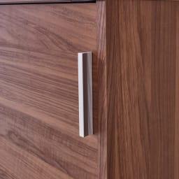 奥行35cm薄型ホームオフィス 引き戸 幅60cm スタイリッシュなシルバー取っ手付き。