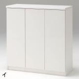 前面ミラー&板戸シューズボックス ミドルタイプ・幅89.5 高さ93cm 写真