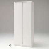 前面ミラー&板戸シューズボックス ハイタイプ・幅75.5 高さ180cm 写真