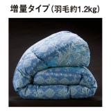 バーゲン寝具シリーズ 羽毛布団(羽毛増量タイプ) シングルロング 写真