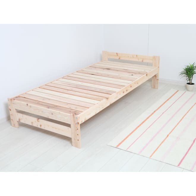 国産ひのき&杉すのこベッド 棚なし