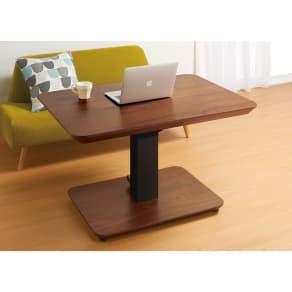 【長方形】105×75cm 高さ自由自在!昇降式ダイニングこたつテーブル 写真