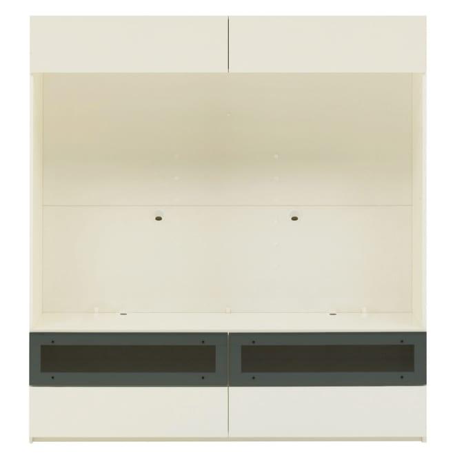 【パモウナ社製】毎日の使いやすさを考えた収納システム テレビ台幅160cm 大型テレビ対応 (ア)ホワイト