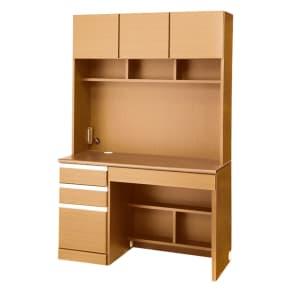 あこがれの書斎スペースを現実にする壁面収納 デスク上棚付き 左引き出し 写真