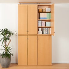 天井対応高さを選べるすっきり突っ張り書棚 奥行22cm・1列棚タイプ 本体高さ220cm(天井対応高さ223~233cm)