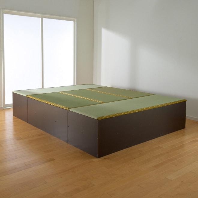 ユニット畳シリーズ お得なセット 6畳セット 幅180奥行240cm 高さ45cm 6畳セット(1畳×3+1.5畳×2)