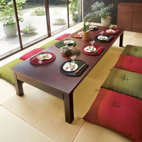 天然木折れ脚伸長式テーブル 幅150cm 写真