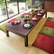 天然木折れ脚伸長式テーブル 幅150cm