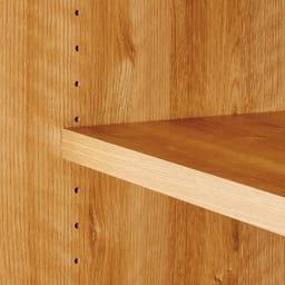 高さサイズオーダー 幅120cm引き戸リビングキャビネット 奥行35cmタイプ ・高さ40cm~120cm 可動棚板は3cm間隔で高さ調節可能。しまう物にもぴったり。