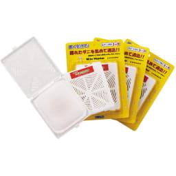 日革研究所 「ダニ捕りロボ」 詰め替え用誘引マット レギュラーサイズ5枚組 定期便 別売りのハードケース・ソフトケースレギュラーサイズをお使い中の方に対応。お届けする商品は誘引マット(5枚)のみです。