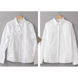 プラスマイナスゼロ 衣類スチーマー ここが革命! 忙しい朝も短時間でシャツがピンッ! パワフルなスチームがみるみるシワをとって短時間で完了。プレスするよりずっとラクで失敗もなし。