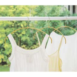 MAWA/マワ 洗濯ハンガー 人体スリムハンガー 洗濯も収納もこれ1本。ピンチいらずのMAWA洗濯ハンガー。(ア)ゴールド
