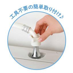 ナノバブルアダプター洗濯機用 洗濯機とホースの間につなぐだけ!ものの数分で簡単に取り付けられます
