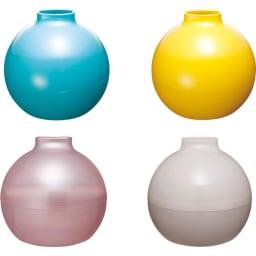 ペーパーPot(ポット) ティッシュケース 色が選べる2個組 全31色 上から時計回りに(エ)ターコイズブルー (テ)イエロー (ナ)フロストホワイト (ト)フロストピンク (ナ)(ト)はうっすら中が透けて見える仕様。