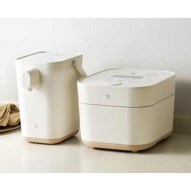 象印 STAN. /スタン IH炊飯ジャー5.5合 (ア)ホワイト 待望のホワイト色です!お届けするのは右の炊飯器です。